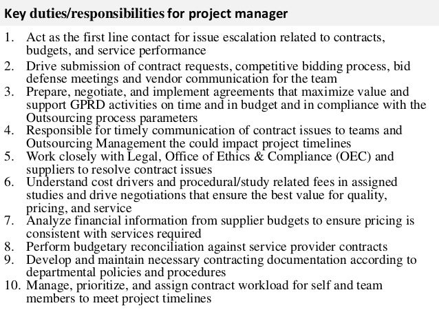 project manager responsibilities list - Engne.euforic.co
