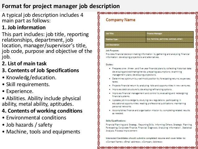 Project manager job description – Project Manager Job Description