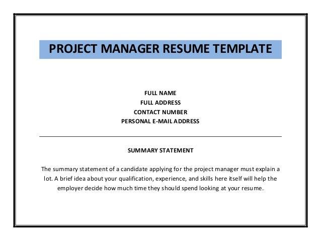 project manager resume template pdf. Black Bedroom Furniture Sets. Home Design Ideas