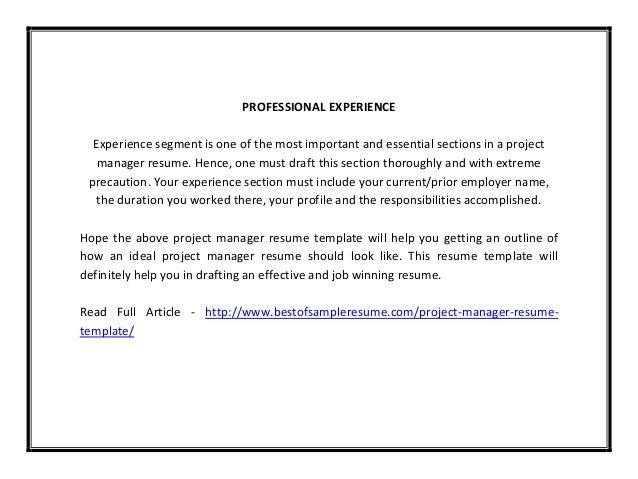 draft resume sample