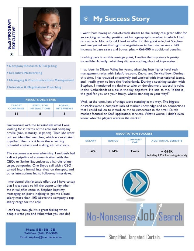 it project manager resume job search success