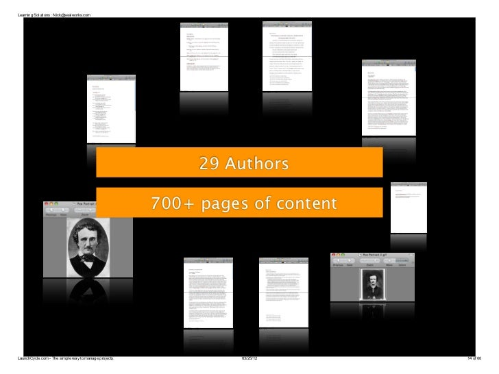 Learning Solutions : Nick@sealworks.com                                                            29 Authors             ...