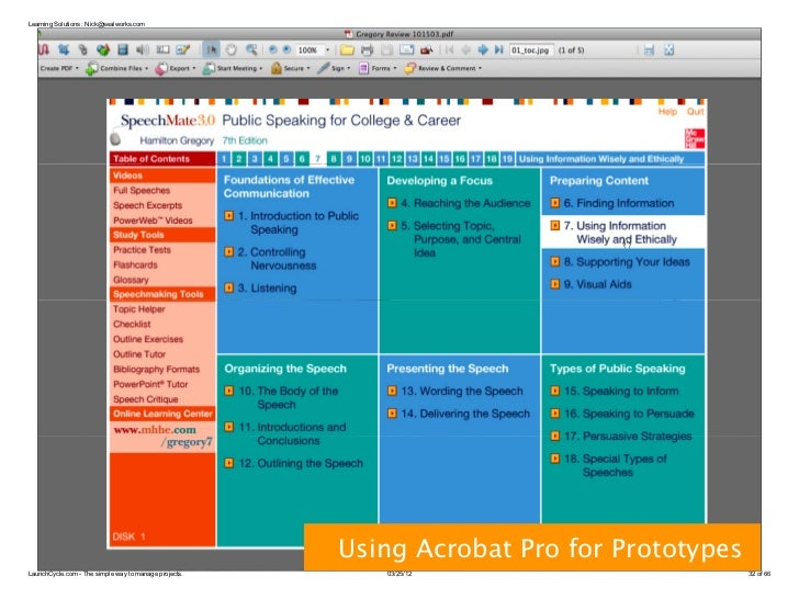 Learning Solutions : Nick@sealworks.com      Wireframes                                                       Using Acroba...