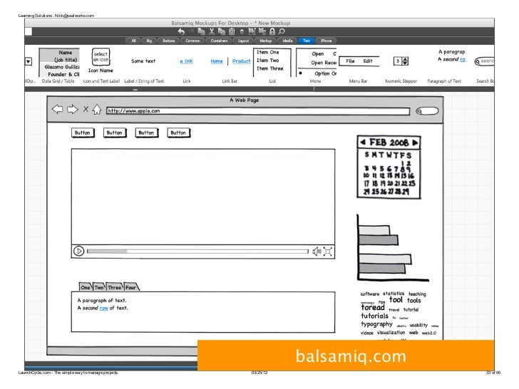 Learning Solutions : Nick@sealworks.com                                                                  balsamiq.comLaunc...
