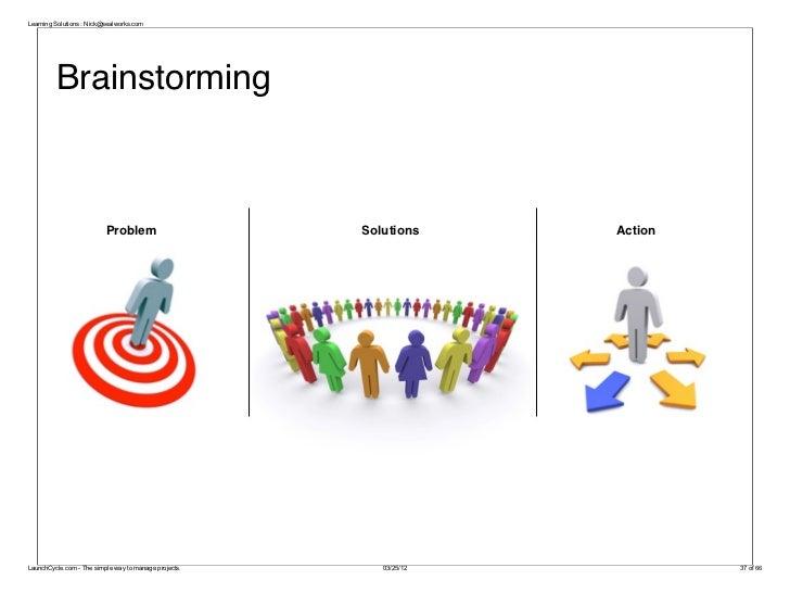 Learning Solutions : Nick@sealworks.com         Brainstorming                          Problem                      Soluti...