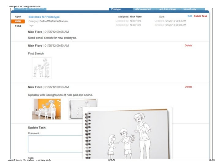 Learning Solutions : Nick@sealworks.comLaunchCycle.com - The simple way to manage projects.   03/25/12   56 of 66