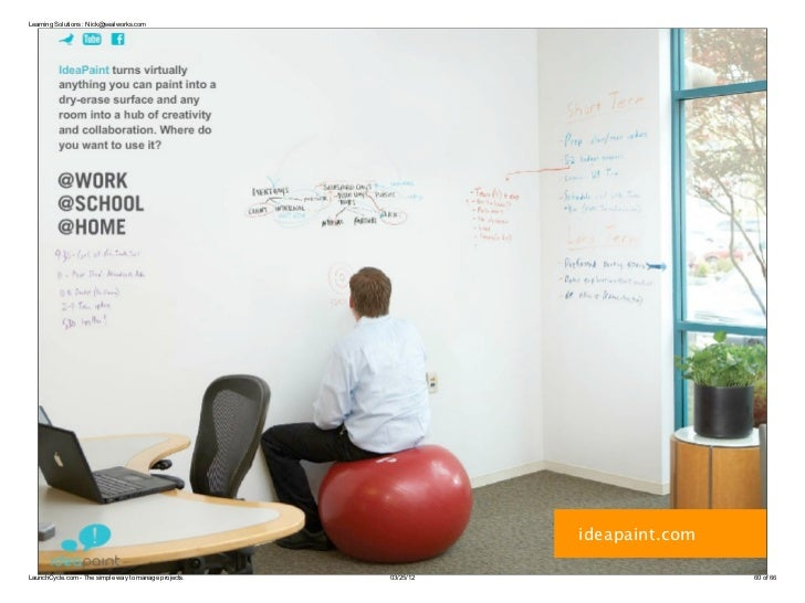 Learning Solutions : Nick@sealworks.com                                                                  ideapaint.comLaun...