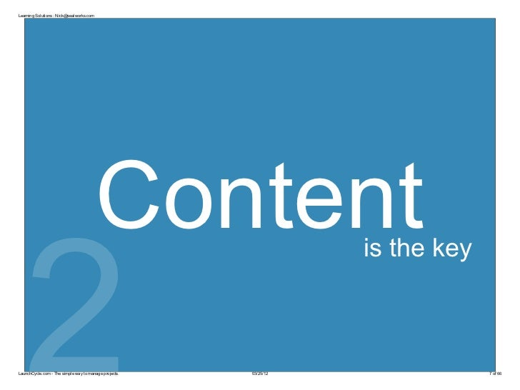 Learning Solutions : Nick@sealworks.com                                          Content  2                               ...