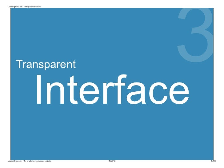 3Learning Solutions : Nick@sealworks.com         Transparent                              InterfaceLaunchCycle.com - The s...