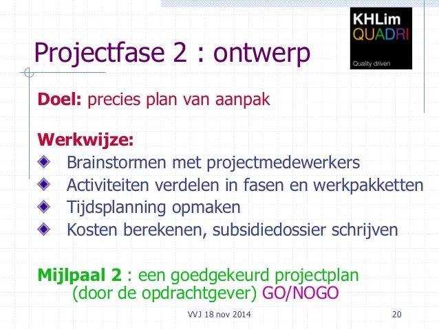 plan van aanpak projectmatig werken Projectmatig werken plankuren2014 plan van aanpak projectmatig werken