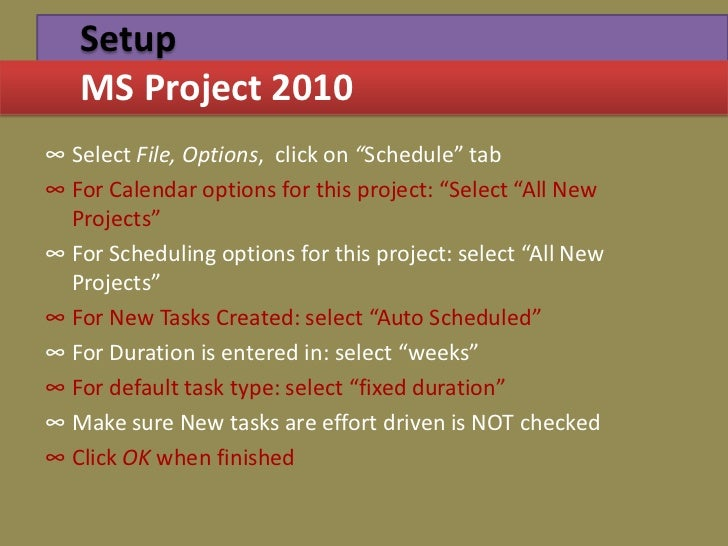 Project management through gantt pert chart microsoftproject 2010 18 setup ms project ccuart Gallery