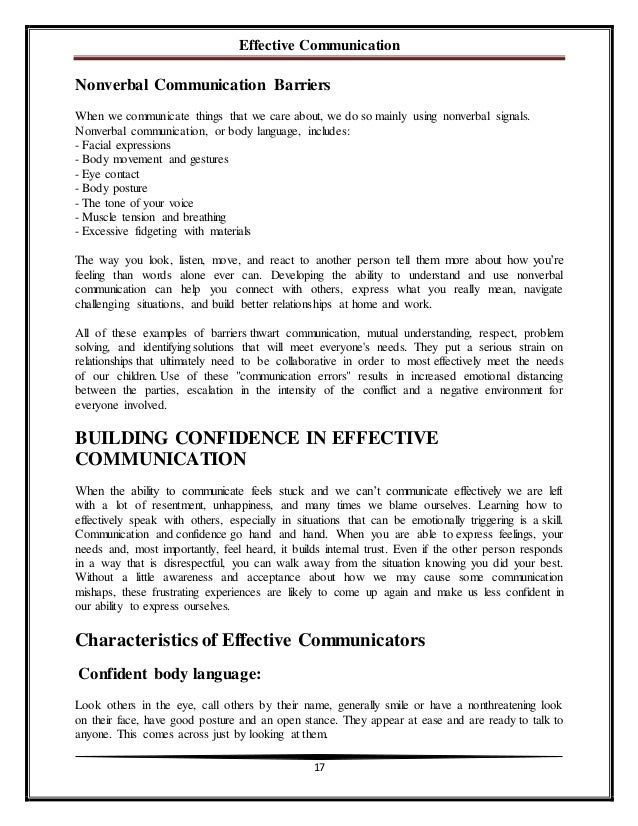 A communication barrier essay help