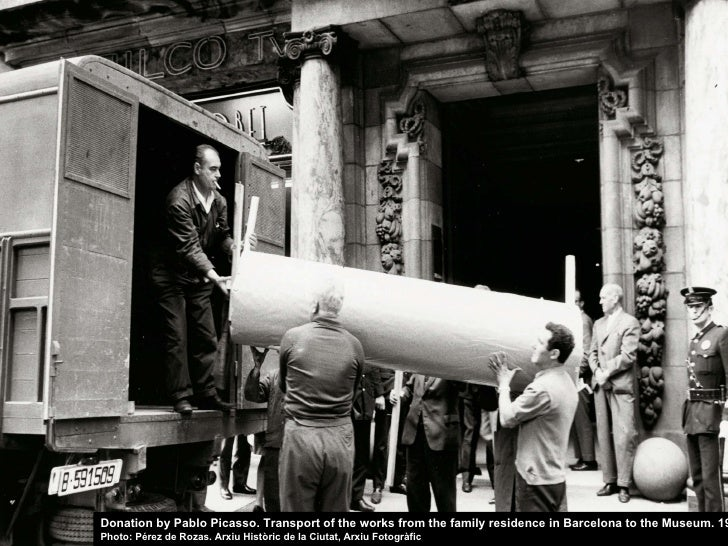 Donation by Pablo Picasso. Transport of the works from the family residence in Barcelona to the Museum. 1970 Photo: Pérez ...