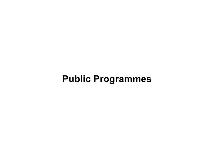 Public Programmes