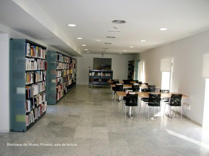 Biblioteca del Museu Picasso, sala de lectura