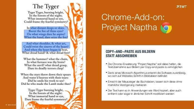 """© www.twt.de COPY-AND-PASTE AUS BILDERN  STATT ABSCHREIBEN !! Die Chrome-Erweiterung """"Project Naptha"""" soll dabei helfen, ..."""