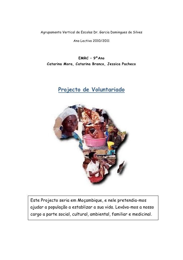 Agrupamento Vertical de Escolas Dr. Garcia Domingues de Silves                         Ano Lectivo 2010/2011              ...