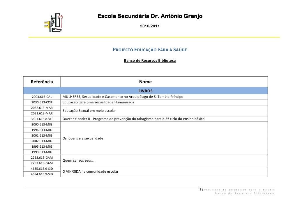 Escola Secundária Dr. António Granjo                                                                 2010/2011            ...