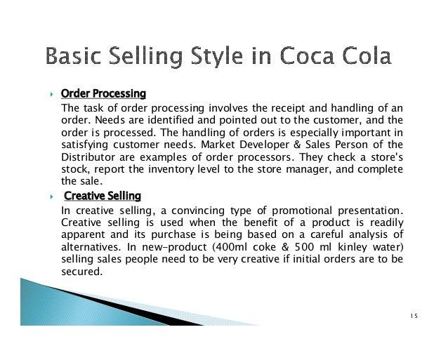 selling process of coca cola
