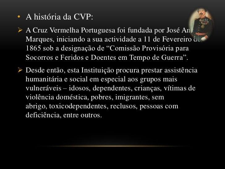 A coordenadora representante da Cruz Vermelha Portuguesa:<br />