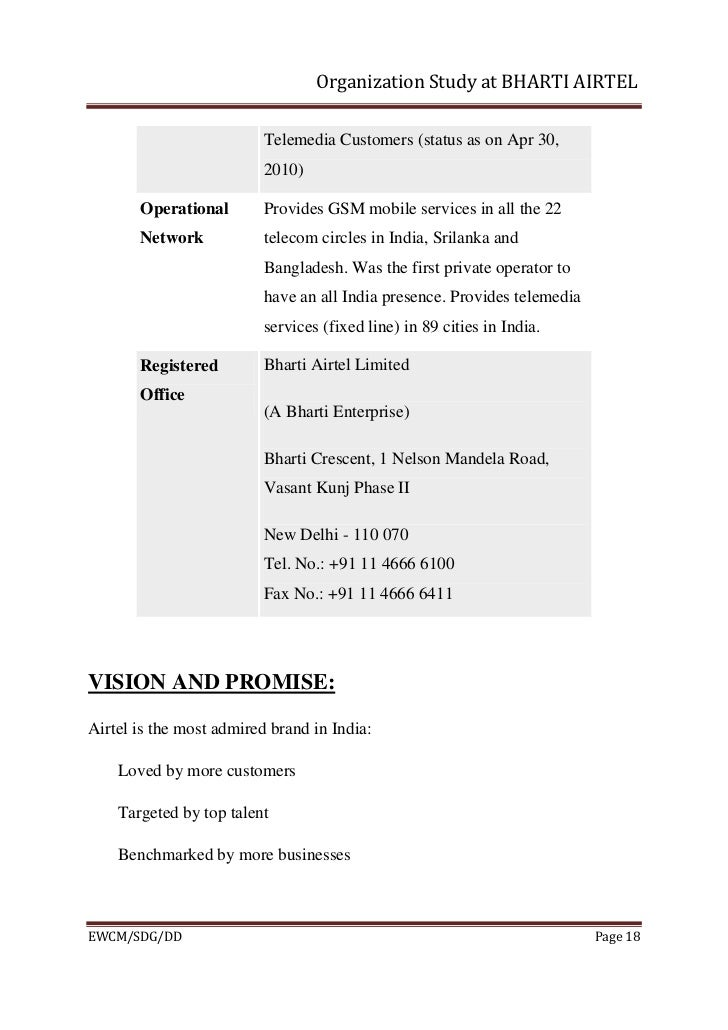 project report bharti airtel Project report on crm, mba project report on customer relationship management at airtel, crm techniques, project report on crm.