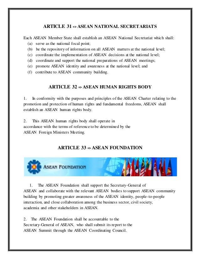 Asean aims purposes of writing