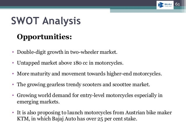 swot analysis of bajaj auto This blog explores the swot analysis for companies in the automobile industry  get more insights on how automotive companies can capitalize opportunities.