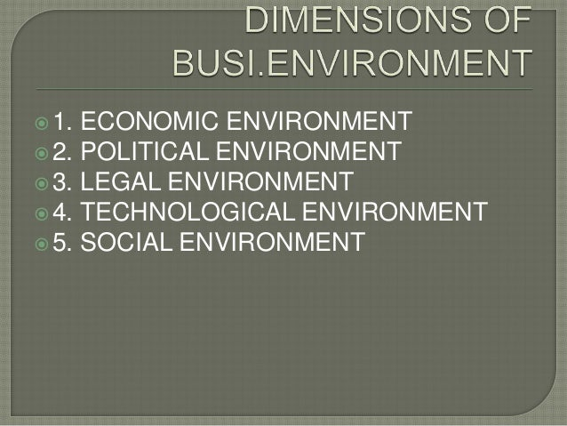 "business environment project Business environment definition: environment refers to all external forces which have a bearing on the functioning of business according to barry m richman ""environment factors and constraints are largely external and beyond the control of individual, industrial, enterprises and their managements."