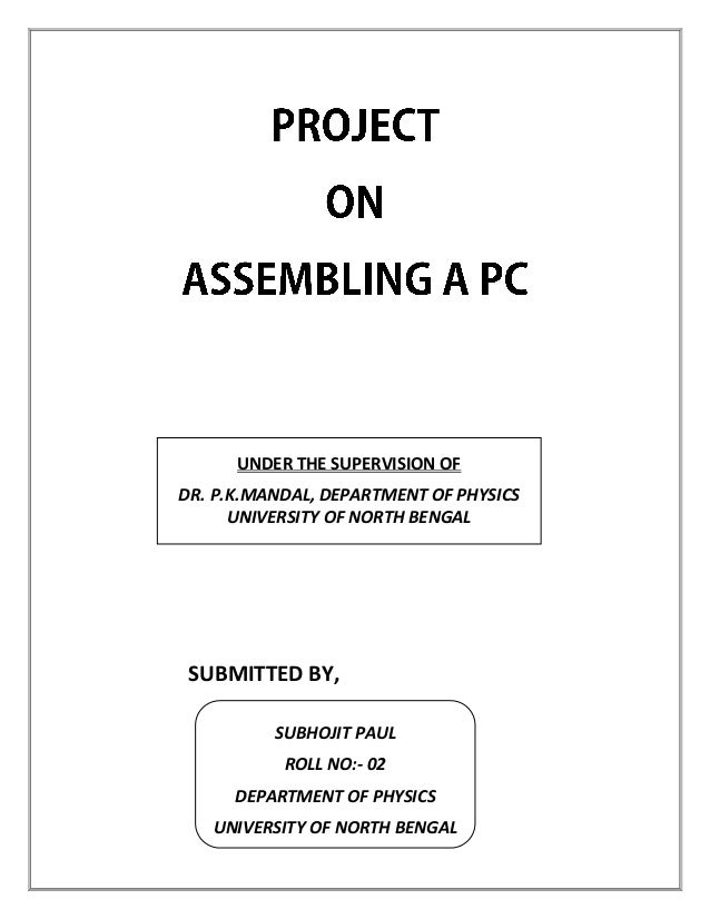 project on computer assembling