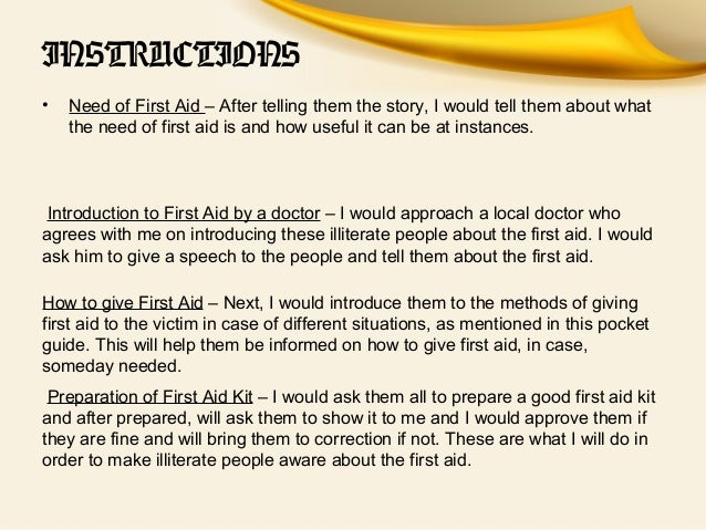 Importance of first aid essay