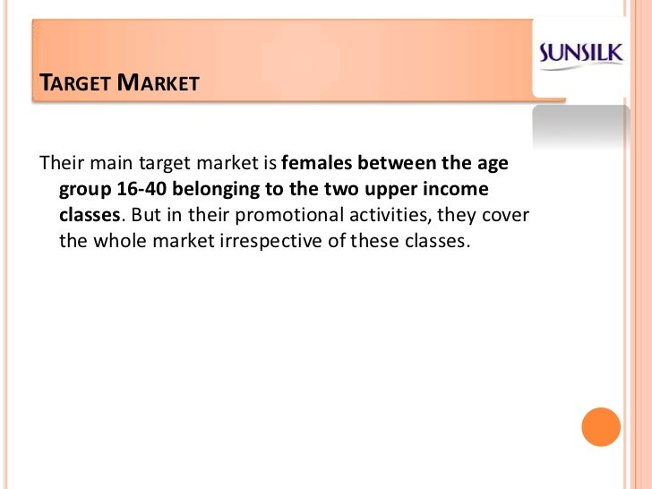 sunsilk shampoo market segmentation ppt