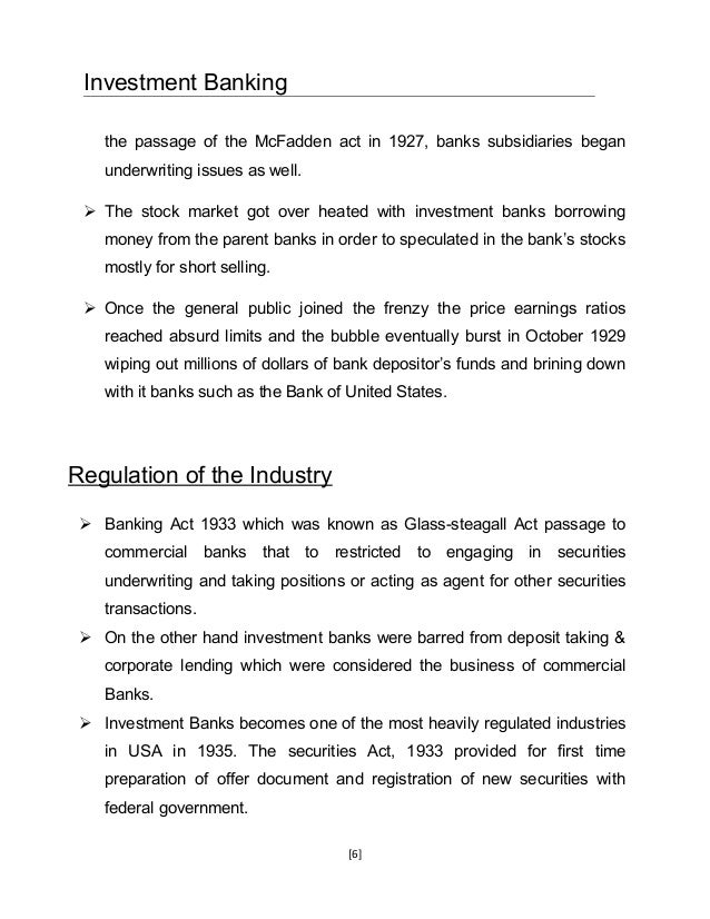 Securities Underwriting and Dealing Subsidiaries
