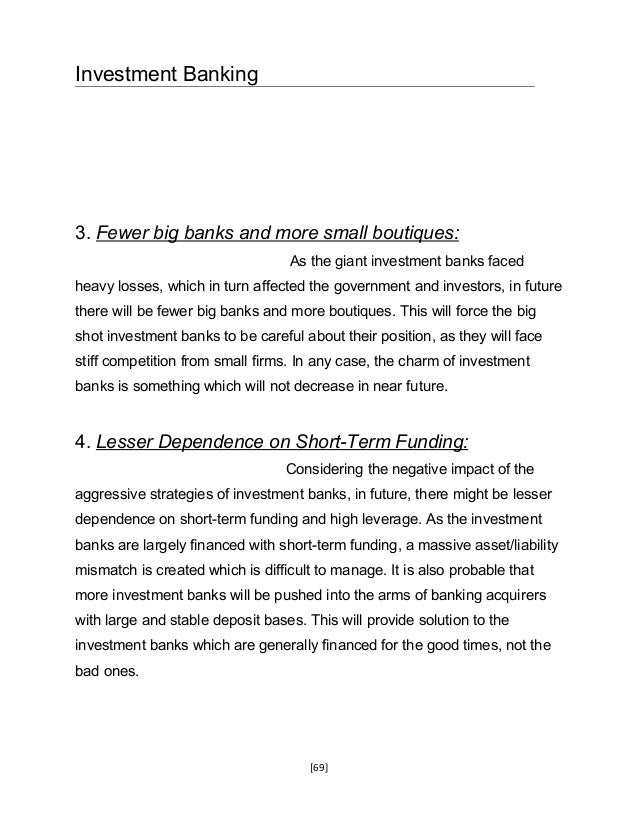 investment banking research papers