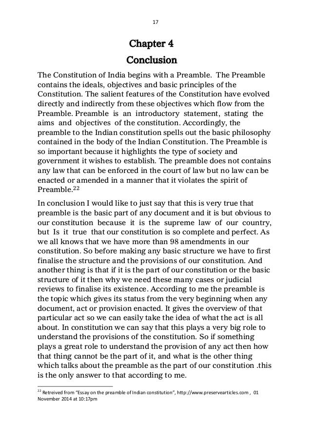 role of preamble in the interpretation of constitution  17