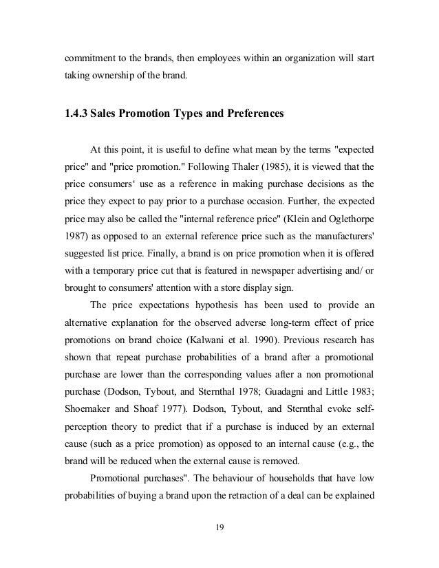 Project On Sales Promotion In Big Bazaar - Best of promotional model resume scheme