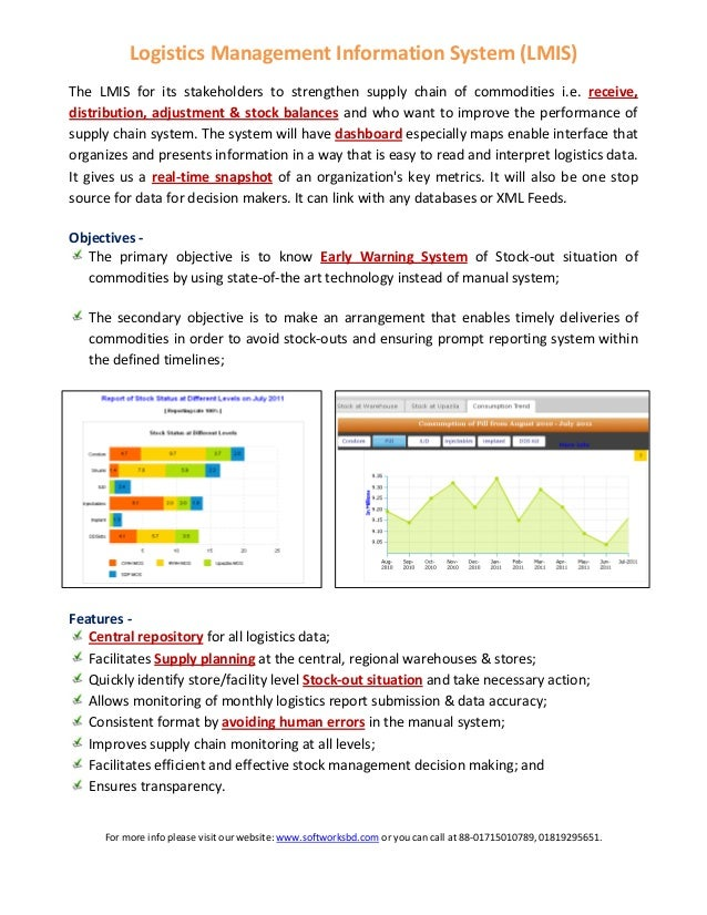LogisticsManagementInformationSystem(LMIS)   The LMIS for its stakeholders to strengthen supply chain of ...