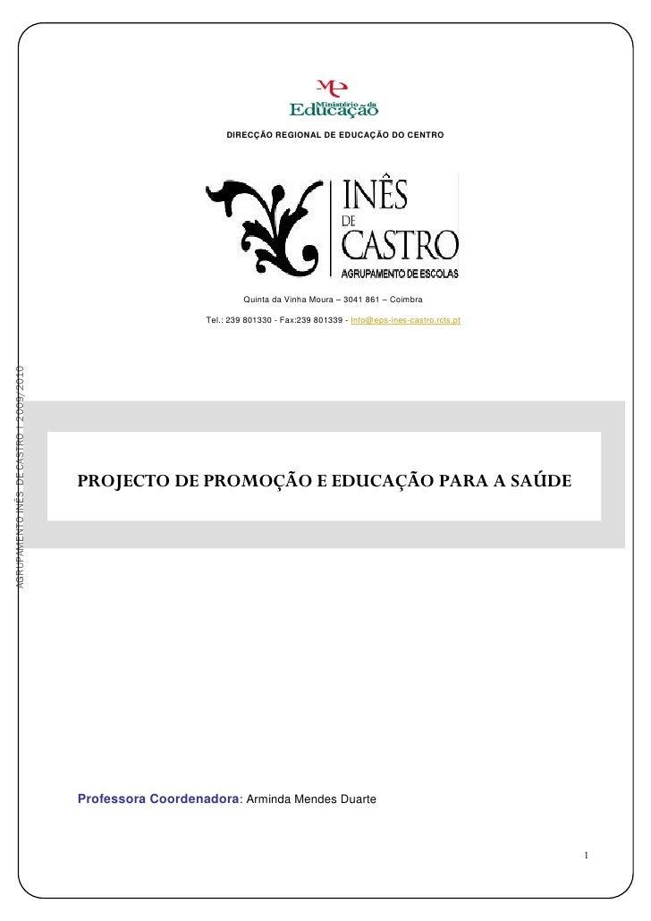 DIRECÇÃO REGIONAL DE EDUCAÇÃO DO CENTRO                                                                          Quinta da...
