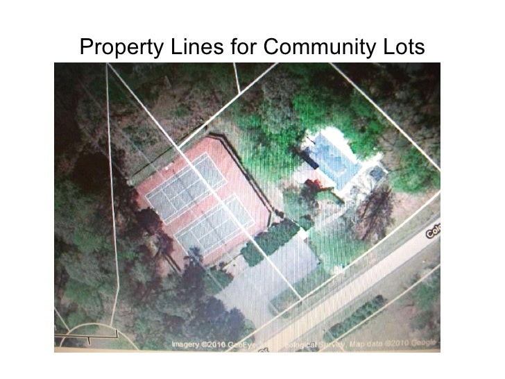 Property Lines for Community Lots