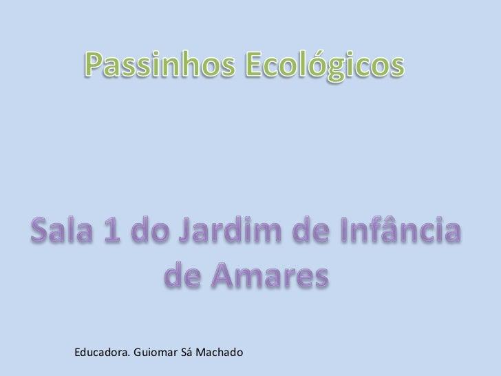 Passinhos Ecológicos <br />Sala 1 do Jardim de Infância de Amares<br />Educadora. Guiomar Sá Machado<br />