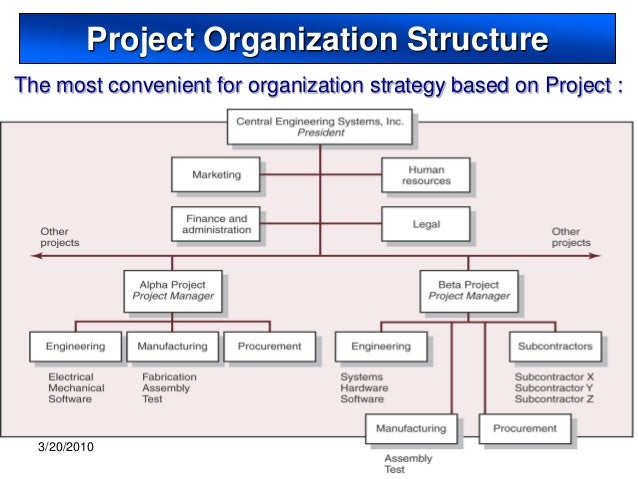 Project Organization And Structure