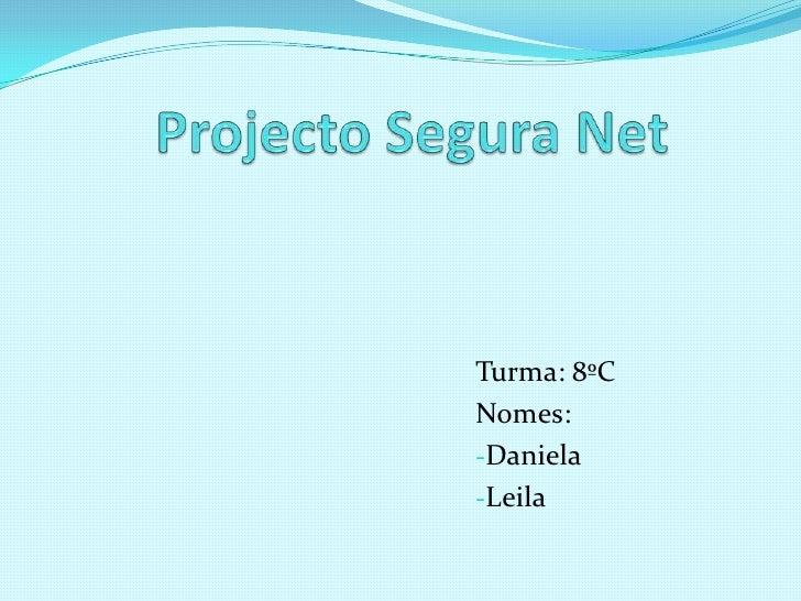 Projecto Segura Net<br />Turma: 8ºC<br />Nomes:<br /><ul><li>Daniela