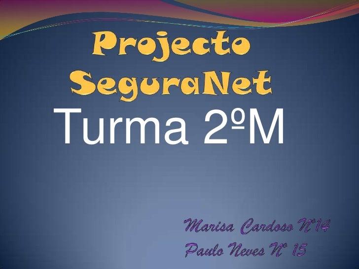 Projecto SeguraNet<br />Turma 2ºM<br />Marisa Cardoso Nº14<br />Paulo Neves Nº 15<br />