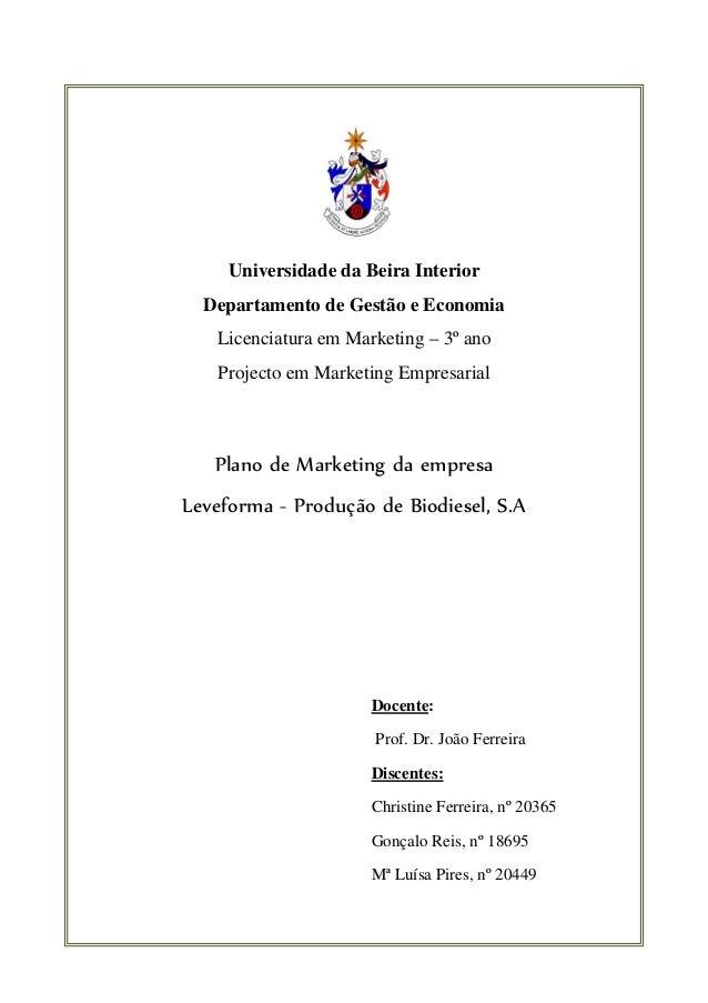 Universidade da Beira Interior          Departamento de Gestão e Economia           Licenciatura em Marketin...