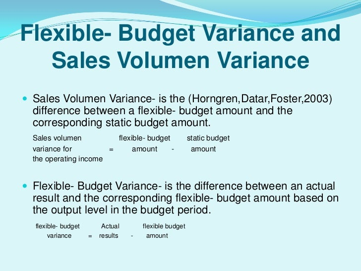 Projecto variance