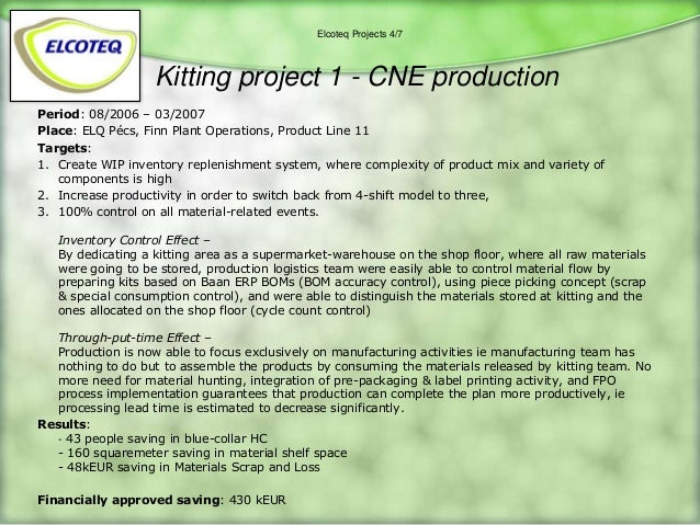 kitting projects