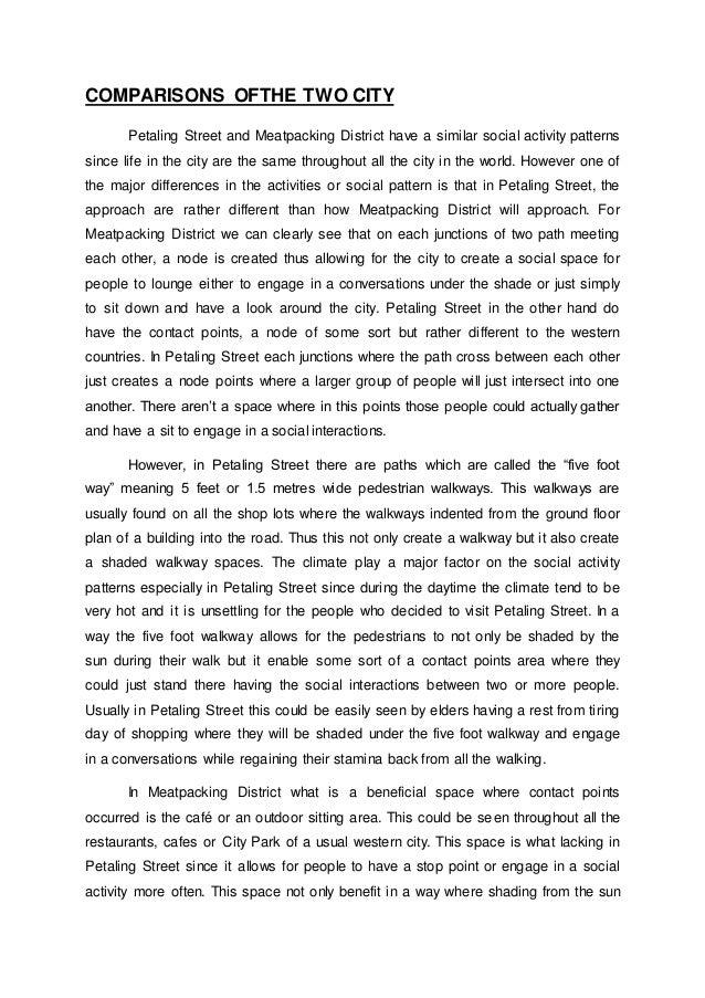 Comparative analysis essays