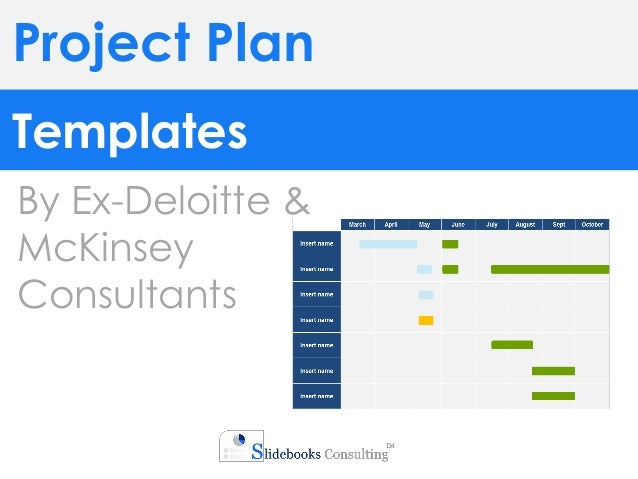 project plan templates by ex deloitte mckinsey consultants