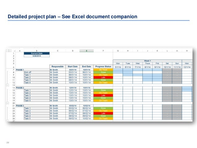 project plan excel