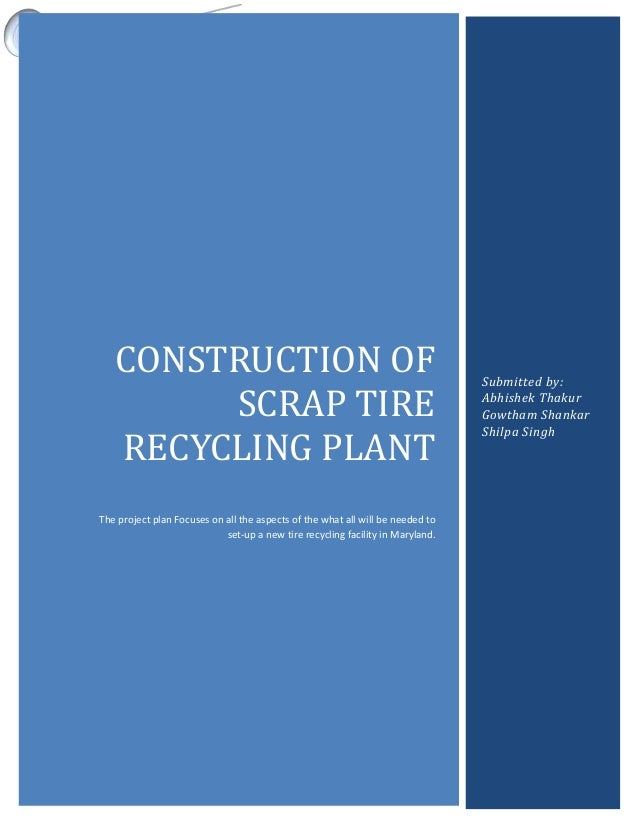 A Sample Tyre Recycling Plant Business Plan Template