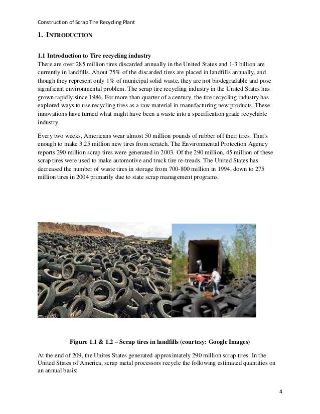 Different Capacity Tyre Recycling Plant Business Plan